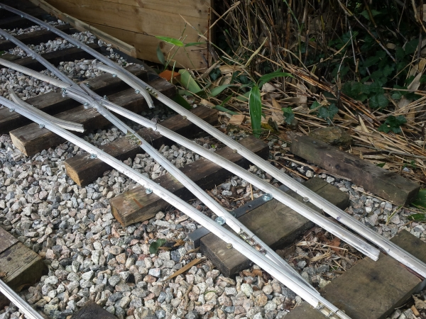 Home made points (cast frog from miniature railway supply co). Blades shaped with an angle grinder.