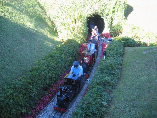 The height of a driver sitting on a narrow gauge tender or riding car also needs to be taken into consideration to prevent striking your head on a tunnel roof or gantry.