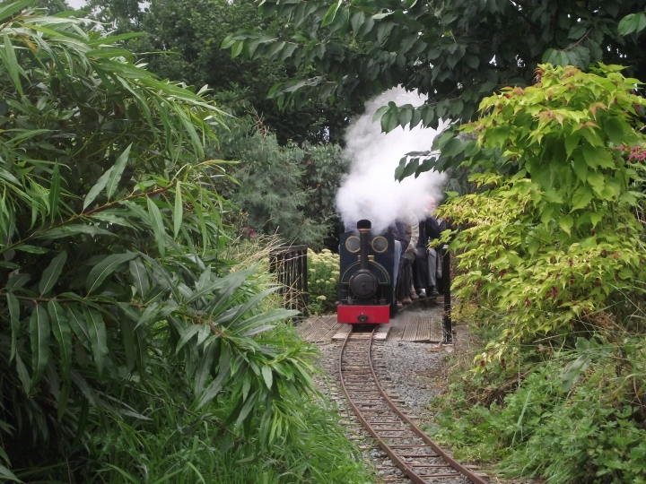 Woodseaves Miniature Rly - Bobs Jill negotiating the bridge