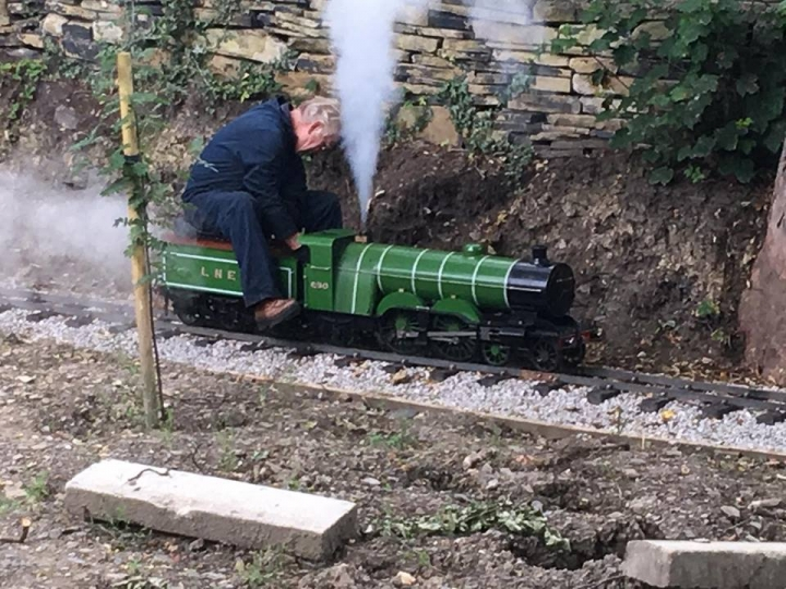 Plenty of steam on the Dell Deviation at Ravensprings Park