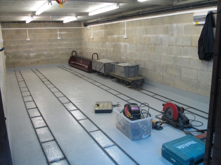 INSIDE THE NEW CARRIAGE SHED AT ABBEYDALE