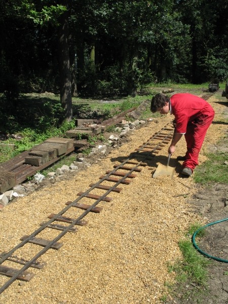 Barton House Railway portable track at Mid Sufolk Railway.