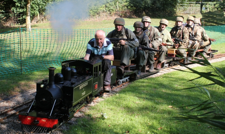 littlethorpe miniature railway doing our bit for the cosby victory