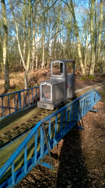 Testing my latest loco at Mid-Cheshire