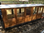 Carriage now in Teak for Sit Inside Steam Railcar