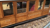 Steam railcar carriage with transfers