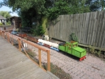 Barton House Railway Junior day with goods train